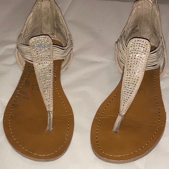 5150ea65f Brash Shoes - Cute sparkly Thong Sandals